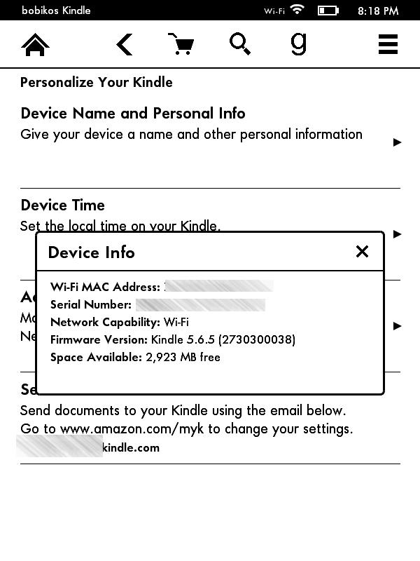 kindle 7 - screen