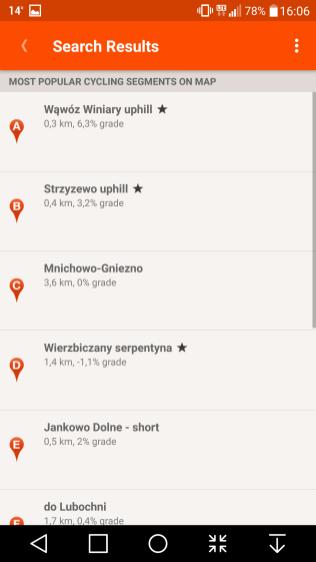 Wyszukiwarka segmentów podpostacią listy