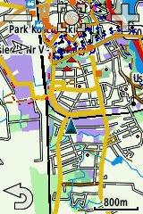 Garmin Edge 810 - sceeen - mapa