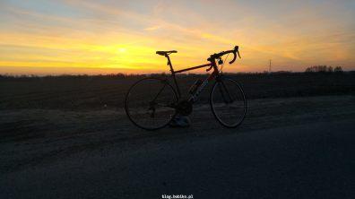 Wiosenny zachód słońca