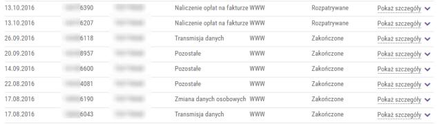 Lista zgłoszeń wPlay