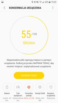 Samsung Galaxy S7 - konserwacja urzadzenia przykad dzialania