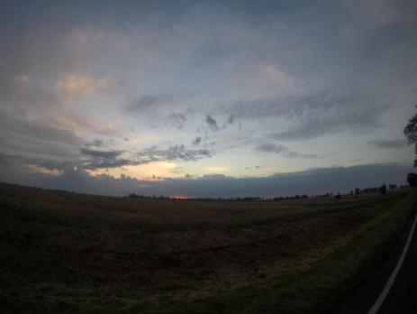 Rowerem doKołobrzegu - słońce wstaje