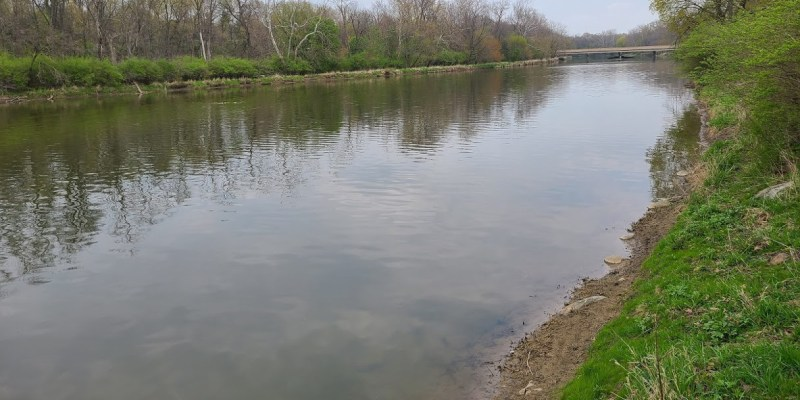 Eel River in Logansport, Indiana