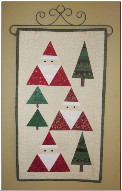 Santa And Pines By Bobkat Quilts
