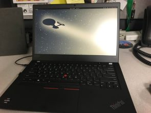 ThinkPad T495 on desk