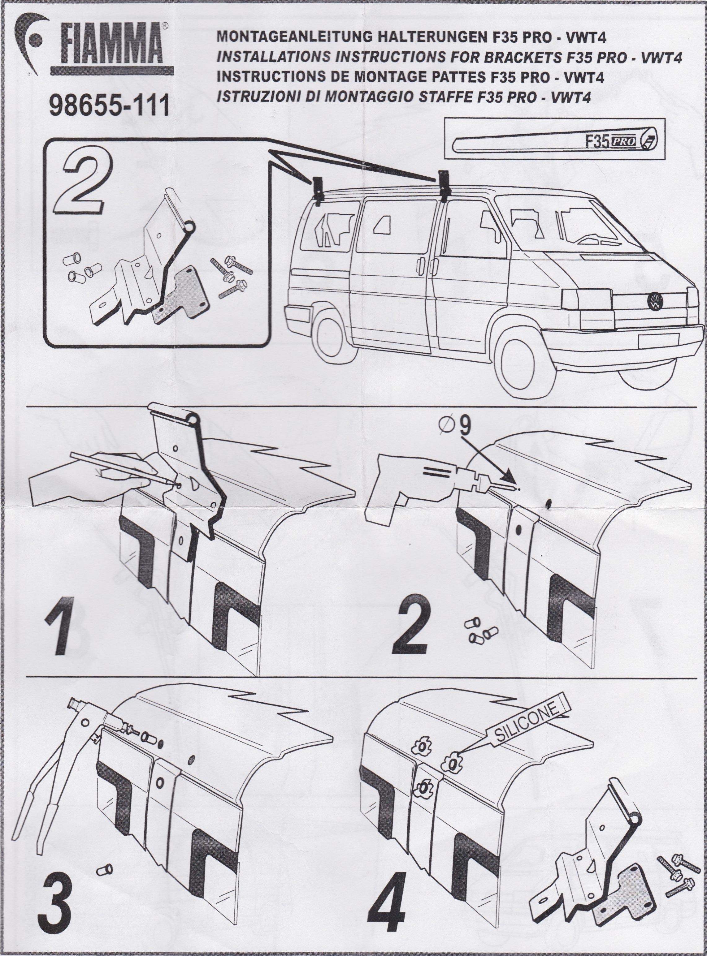 Installation Instructions Fiamma F35 Eurovan