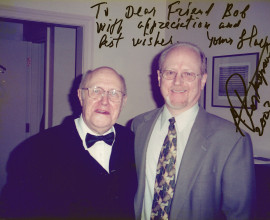 with Mstislav Rostropovich