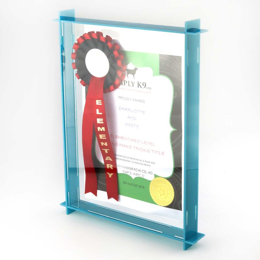 Portrait Acrylic Box Frame Blue