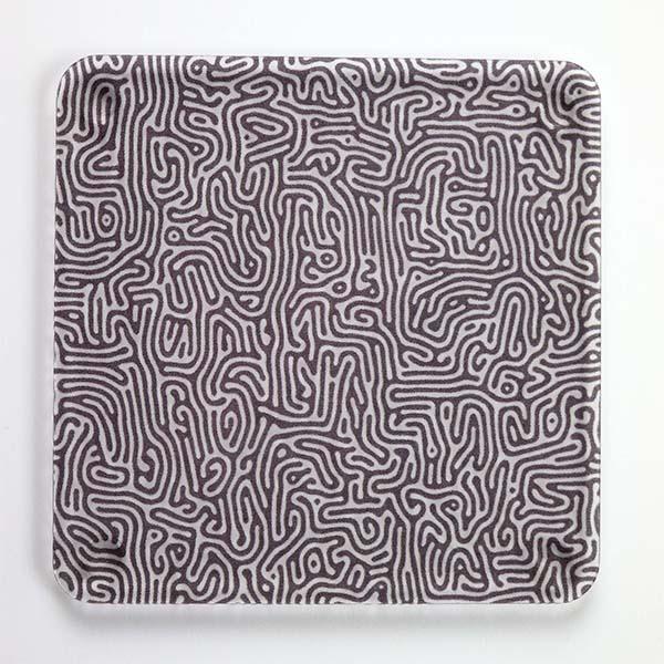 Black Swirl Pattern Coasters