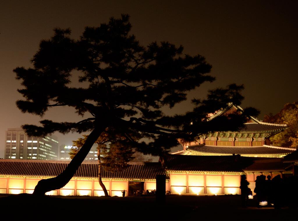 Changdeokgung Palace at night