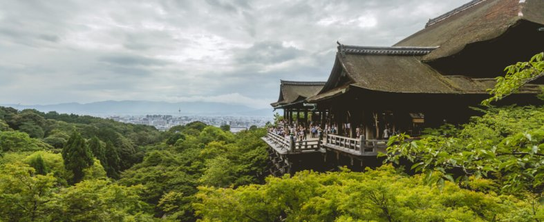 panoramic Toji Shrine in Kyoto