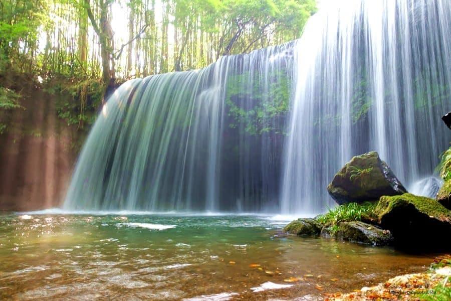 熊本秘境、鍋ヶ滝|日本九州「鍋瀑布」,彷若仙境般的美景。