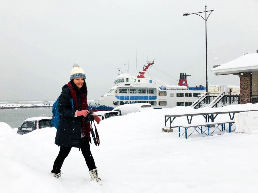 北海道冬季穿搭1
