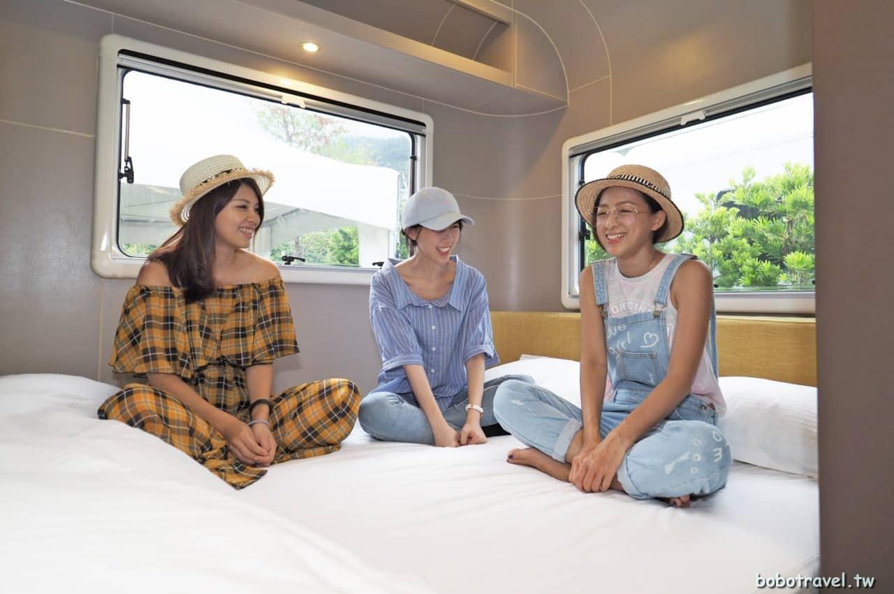 宜蘭、礁溪老爺得天露營車|五星級露營車初體驗,不一樣的閨蜜小旅行