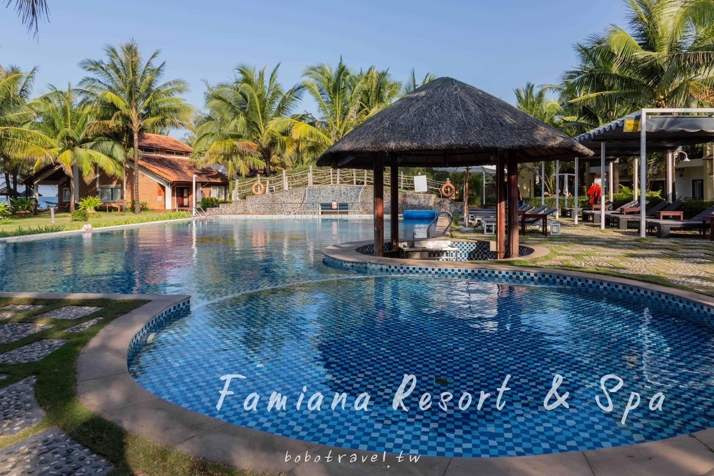 越南、富國島住宿推薦|度假飯店首選 !Famiana Resort and Spa 超值度假村,私人沙灘上有盪鞦韆