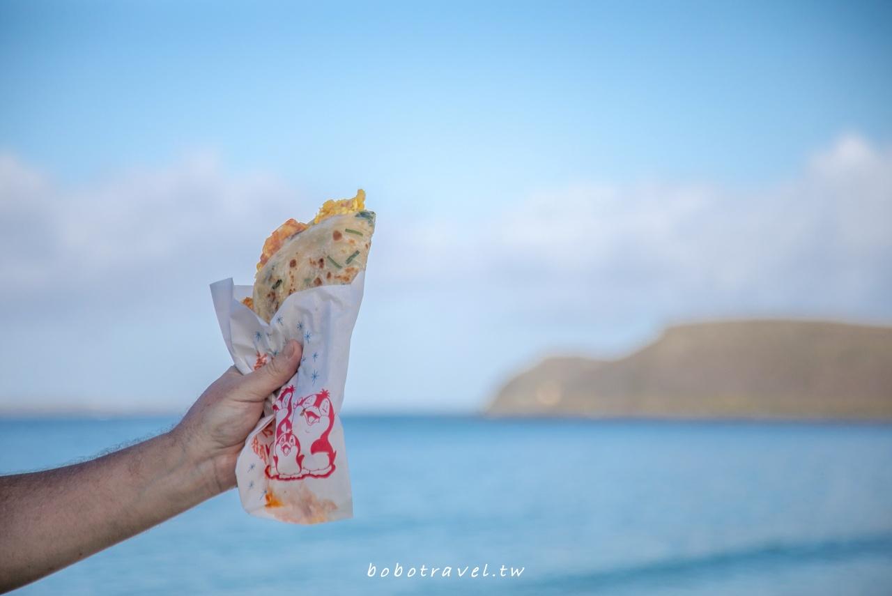 尚青的店、澎湖早餐這樣吃|海景第一排療癒系脆皮蛋餅,用料超大方的熱情早餐店