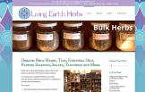 Web Design - Living Earth Herbs Bellingham WA