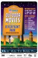 Outdoor Movies @Riverfront Park - Client: Epic Events - Illustration & Design by Bob Paltrow
