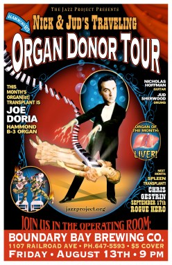"Jazz Project ""Organ Donor Tour"" - Illustration & Design by Bob Paltrow"