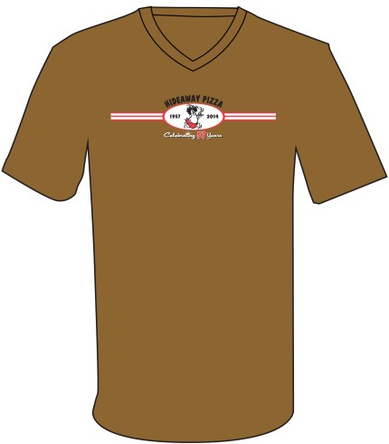 57 Shirt - Modern Oval Insignia on Brown