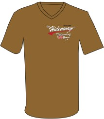 57 Shirt - Retro Swoosh Sparkle 57 on Brown