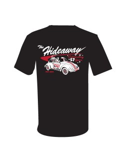 57 Shirt - White Bug on Black Shirt