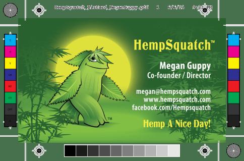 HempSquatch Business Card Design by Bob Paltrow Design