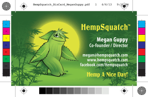 HempSquatch Business Card Design by Bob Paltrow Design