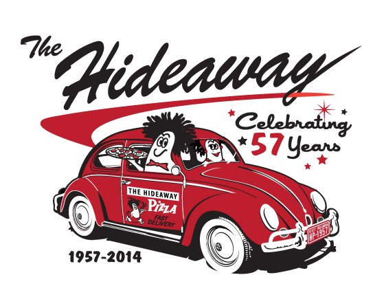 Hideaway PIzza - T-shirt Design Tulsa OK