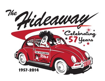 Hideaway PIzza - T-shirt Design Tulsa OK