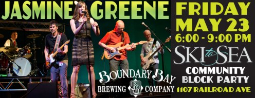 Facebook Cover Image: Ski-to-Sea Party at Boundary Bay Brewery, Bellingham. Design by Bob Paltrow - Client: Jasmine Greene Band
