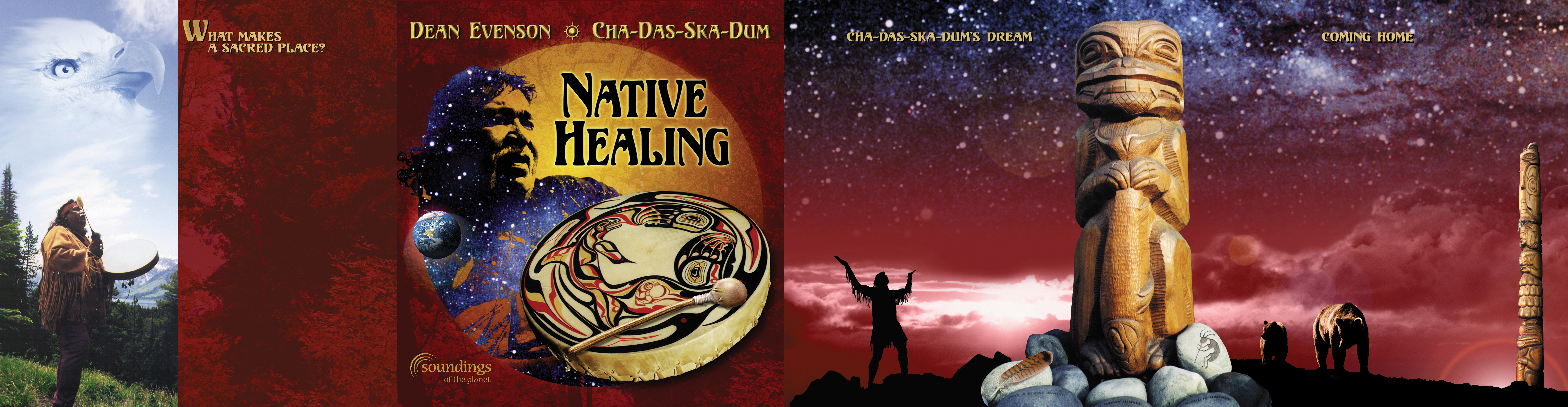 """Native Healing"" CD Cover / Booklet by Soundings of the Planet - Design by Bob Paltrow"