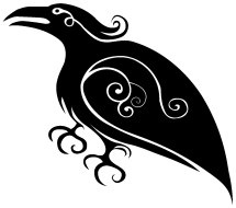 Raven Fiddle Productions secondary logo design