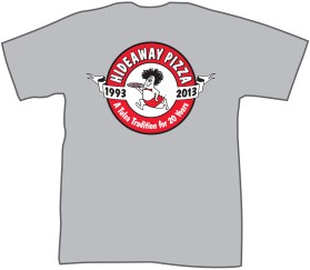 T-Shirt CherrySt - Hideaway Pizza CherrySt Tulsa 20 yearsASH