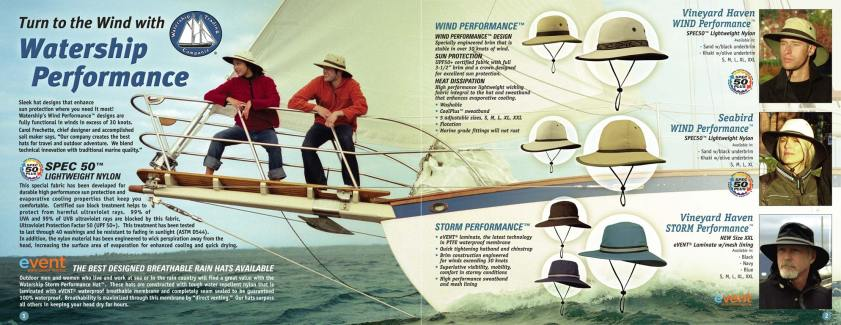 Hat Catalog Design by Bob Paltrow Design, Bellingham WA for Watership Trading Companie Hats