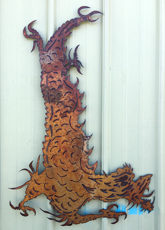 Bob Parker Fine Art | Chinese Dragon Metal Wall Art - 7508