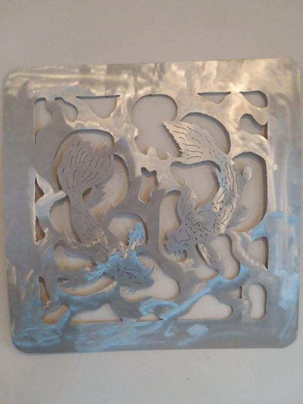 Bob Parker Fine Metal Art | Koi Playing II