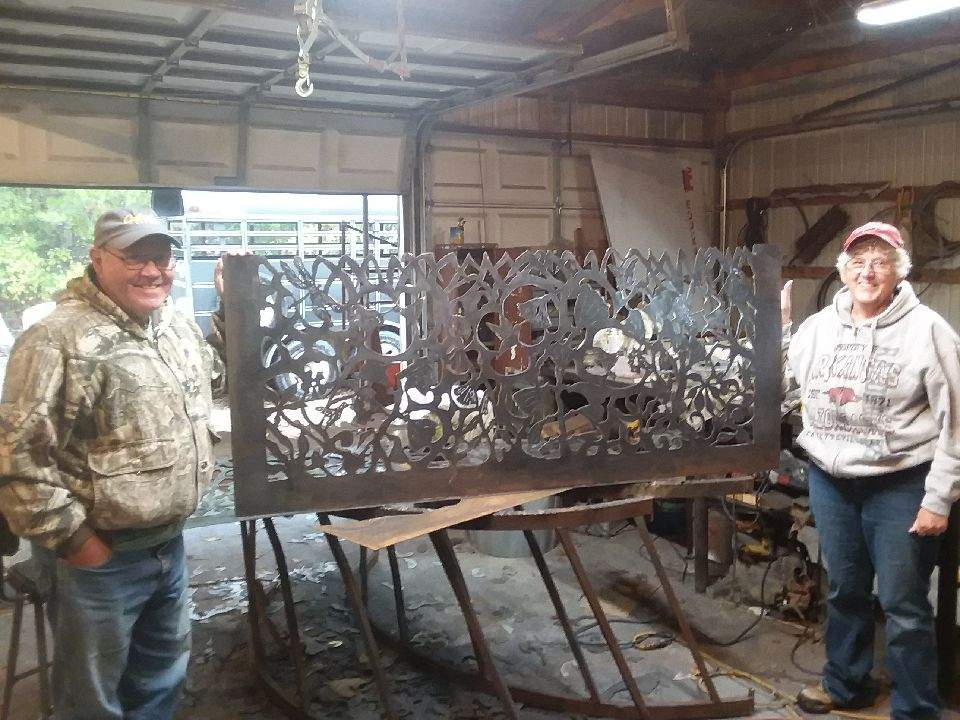 Bob Parker Fine Art | Commissioned Art - Metal Railing