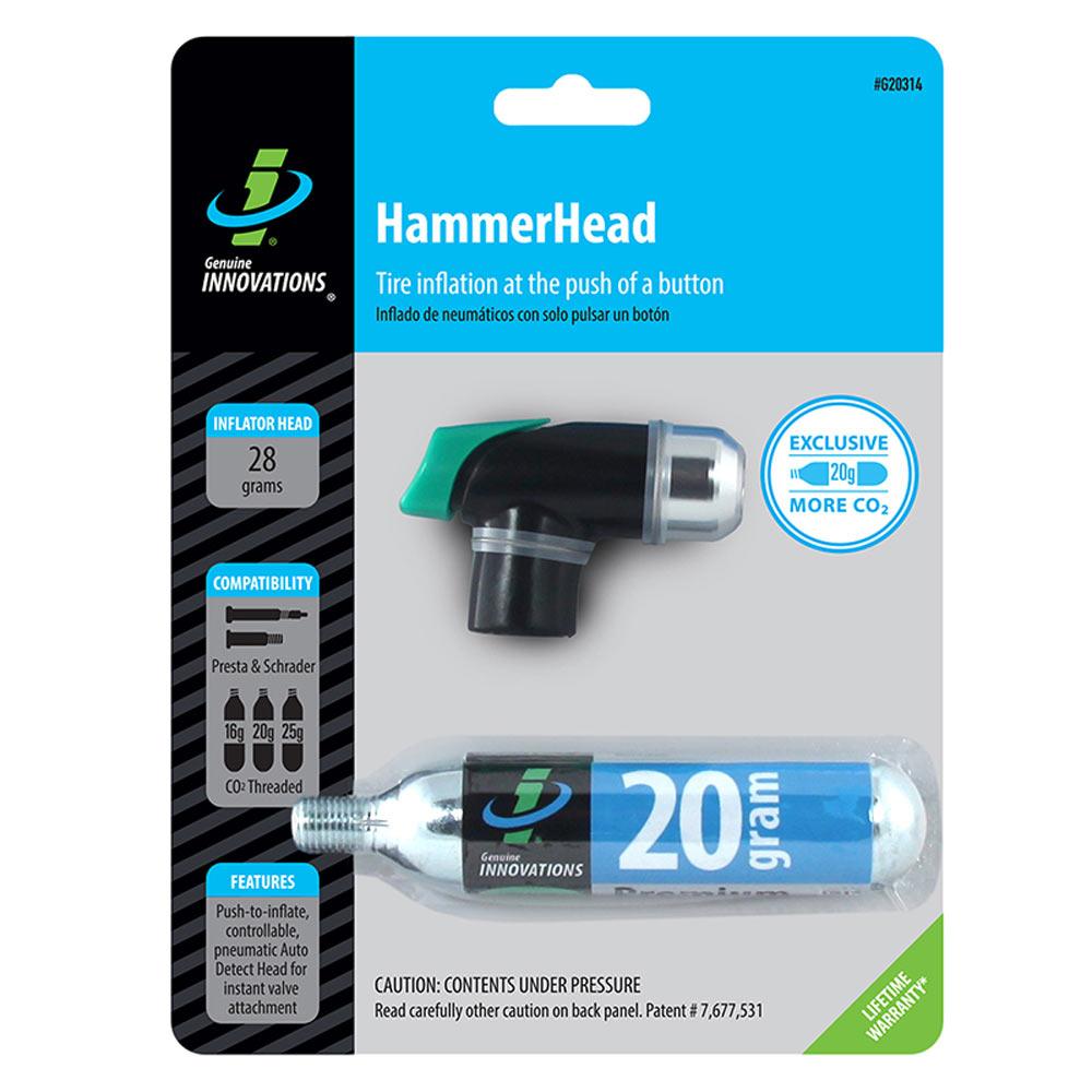 Genuine Innovations HammerHead CO2 Inflator with 20 gram Cartridge