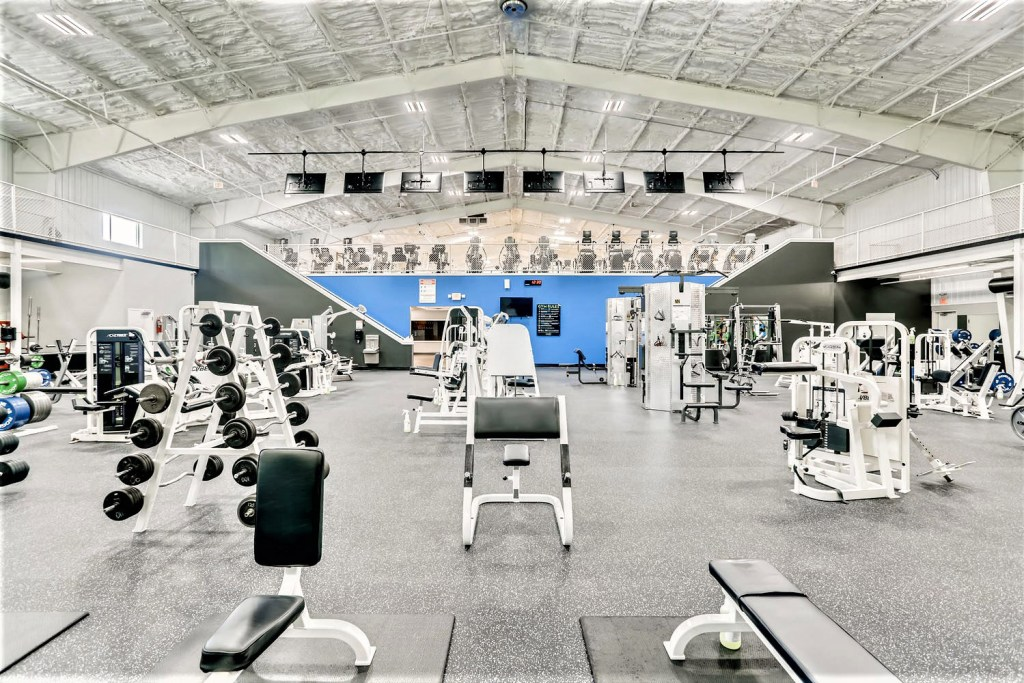 empty gym with equipment