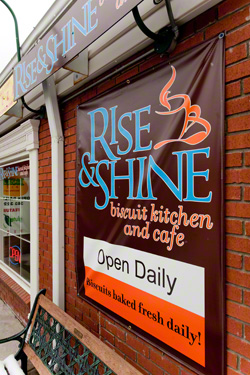 The outside of Rise & Shine