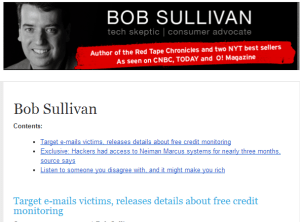 My no-frills newsletter