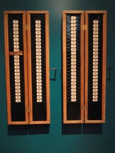 An old time card machine (Wikimedia)