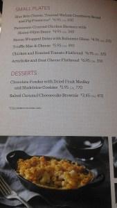 The food menu