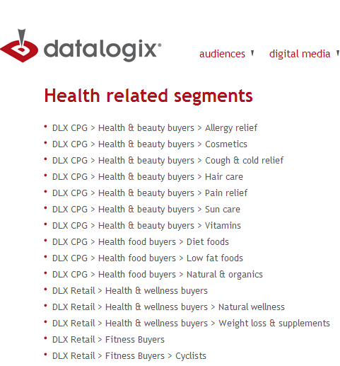Just a few of the health-related segments you might fall into.