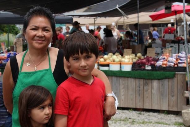 Merela Carrido, niece Grace and nephew Freddie.