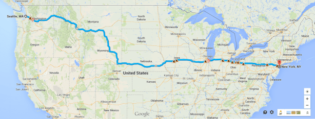 My route (subject to whimsical changes)