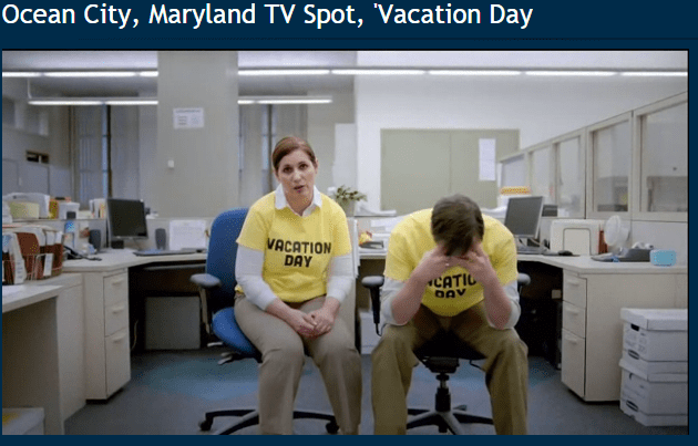 Ocean's City's hillarious vacation day commercial (Click to watch at iSpot.tv)