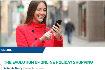She's smiling because she's not being trampled. (National Retail Federation -- click for more.)